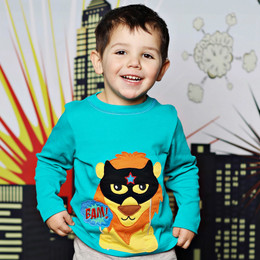 Lemon Loves Lime Gnu Brand Lion Hero Tee - Teal Green