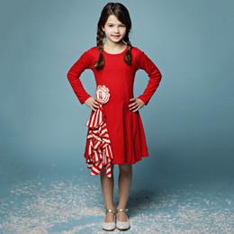 Lemon Loves Lime Holiday Peppermint Swirl Dress - True Red