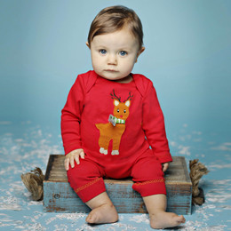 Lemon Loves Lime Holiday Rudolph Romper - Lollipop