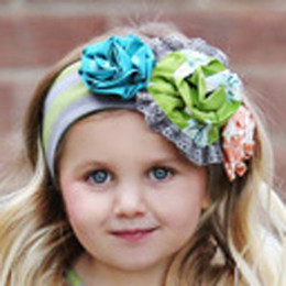 Mustard Pie Jeweled Forest Flora Headband - Olive