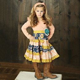 Mustard Pie Jeweled Forest Mckenna Dress