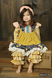 Mustard Pie Jeweled Forest Olive 2pc Set (*Now up to 4T!*)