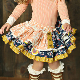 Mustard Pie Jeweled Forest Penelope Skirt