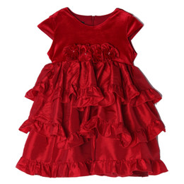 Isobella & Chloe Peppermint Lane Empire Waist Tiered Dress