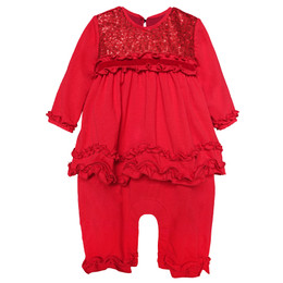 Isobella & Chloe Ruby Red Romper