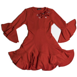 Kate Mack Fa La La Swirl Dress - Red