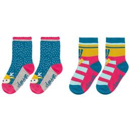 Deux Par Deux Flowery Tale Socks - 2 Pairs