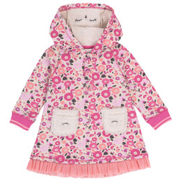 Deux Par Deux Cuddles & Hugs Hooded Fleece Dress