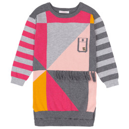Deux Par Deux Oh My Dog! Geo Sweater Knit Dress