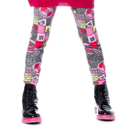 Deux Par Deux Eye On Fashion Printed Leggings
