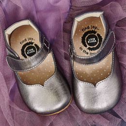 Livie & Luca Astrid Baby Shoes - Pewter Metallic (Fall 2017)