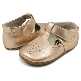 Livie & Luca Cora Baby Shoes - Rosegold Metallic (Fall 2017)