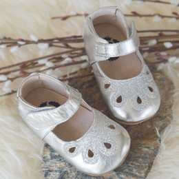 Livie & Luca Petal Baby Shoes - Platinum (Fall 2017)