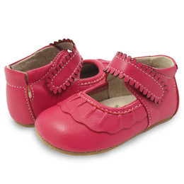 Livie & Luca Ruche Baby Shoes - Hot Pink (Fall 2017)