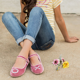 Joyfolie Liv Velvet Mary Jane Shoes - Blush Joy