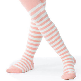 Paper Wings Tights - Peach Stripes