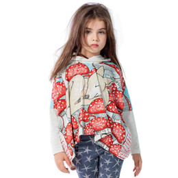 Paper Wings Mushroom Field Oversized Hooded Tee
