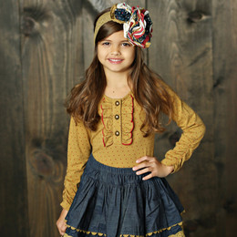 Mustard Pie Woodland Magic Stella Top - Gold