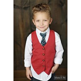 Mustard Pie Woodland Magic Boy's Vest - Brick