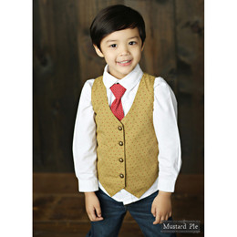 Mustard Pie Woodland Magic Boy's Vest - Gold