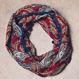 Jak & Peppar Wild Hearts Like The Wind Scarf - Burgundy