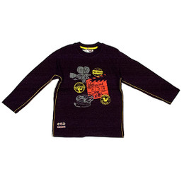 Deux Par Deux Super 8 Printed Top - Jet Black