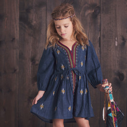 Jak & Peppar Wild Hearts Emmaline Peasant Dress
