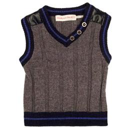 Deux Par Deux Petit Gentleman Knit Vest - Grey Mix