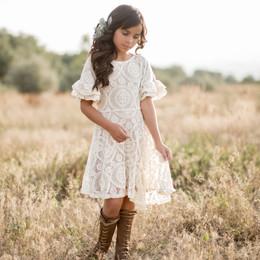 Joyfolie Emilia Dress - Cream
