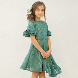 Joyfolie Emilia Dress - Teal