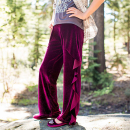 Joyfolie Petal Pants - Velvet Burgundy