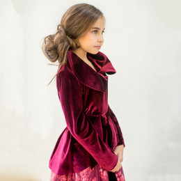 Joyfolie Holiday Victoria Jacket - Berry