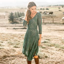 Joyfolie Emily Dress (Women's) - Teal