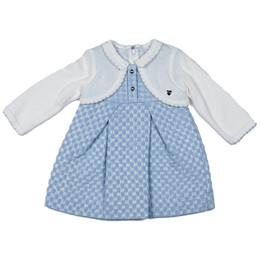 Mayoral 2N1 Layered Sweater Dress - Cielo