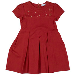 Mayoral Star Studded Pleated Dress - Granate