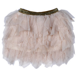 Mayoral Petal Layered Tulle Skirt - Beige