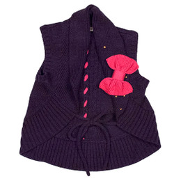 Deux Par Deux The Golden Dot Sleeveless Vest - Peacoat