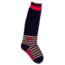 Deux Par Deux The Golden Dot Socks - Peacoat