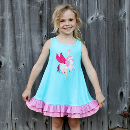Lemon Loves Lime Woodland Play Pegasus Ride Dress
