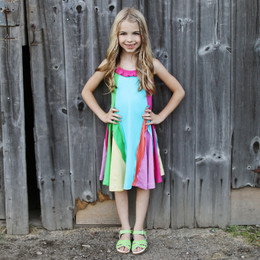 Lemon Loves Lime Woodland Play Over The Rainbow Dress