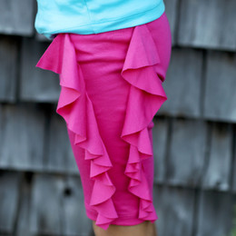 Lemon Loves Lime Cascade Shorts - Fuchsia Purple