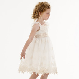 Biscotti Feeling Fancy Empire Dress - Cream
