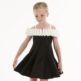 Biscotti Runway Status Off Shoulder Dress - Black/Ivory