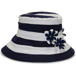 Kate Mack Daisy Crew Hat - Navy/White