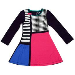 Deux Par Deux Comme Chiens et Chats Color Block Dress - Multi