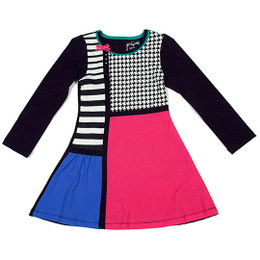 Deux Par Deux Comme Chiens et Chats Color Block Dress - Multi