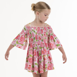 Kate Mack Rose Parfait Romper - Pink