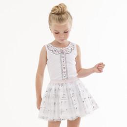 Kate Mack Prima Ballerina Skirt - White