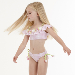 Kate Mack Picnic Posies Swim Bikini - Pink