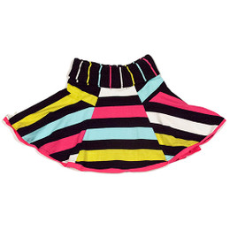 Deux Par Deux Dear Deer Friend Striped Skirt - Multi
